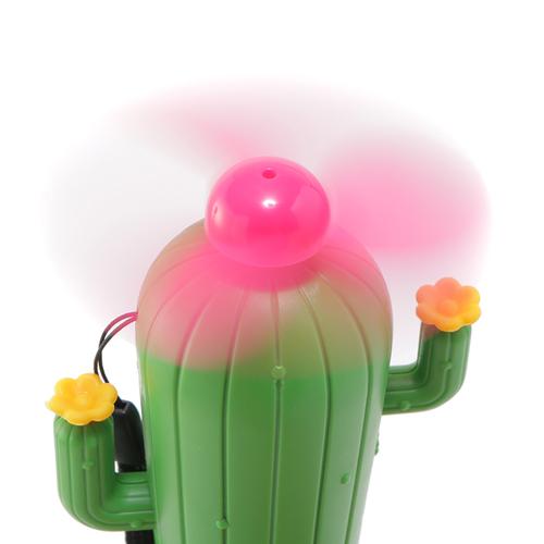 「ハンディーファン Cactus」サイズ:W7×H14.5×D7cm/バッテリー容量:250mAh/充電時間:2~3時間/連続使用時間:約30分